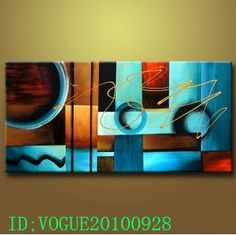 Oil Painting on Canvas An Abstract Modern Art Wall Decor No Frame | eBay