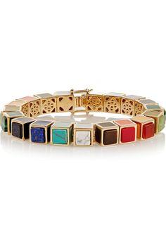Eddie Borgo | Gold-plated multi-stone bracelet