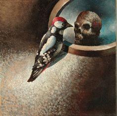 Ennnustaja by Samuli Heimonen Fisher, Art Studies, Art Education, Oil On Canvas, Birds, Fine Art, Painting, Photographers, Artists