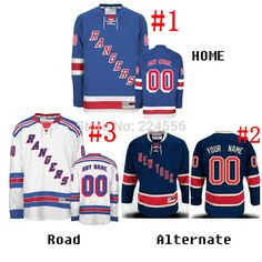 Find More Sports Jerseys Information about kids&men&women blank/Own design New York Rangers Jerseys home/road Belongs only to you Cheap China Hockey Jerseys NO. & Name ,High Quality jersey competitions,China jersey knit maxi dress Suppliers, Cheap jersey from Jerseys World's store on Aliexpress.com