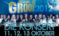 nice Afrikaans music rocked the past weekend Last week Thursday, Friday and Saturday, Afrikaans music lovers were blown away by some of the biggest names in the Afrikaans music industry. The first Afrikaans is Groot concert was held in the Moreletapark-auditorium in Pretoria. http://www.sapromo.com/afrikaans-music-rocked-the-past-weekend/1054