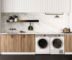 """Fantastic """"laundry room storage diy cabinets"""" detail is offered on our internet site. Take a look and you wont be sorry you did. Modern Laundry Rooms, Laundry In Bathroom, Laundry Closet, Basement Laundry, Laundry Area, Laundry In Kitchen, Garage Laundry, Laundry Tips, Mini Kitchen"""