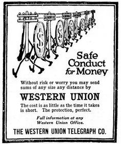 Western Union Ad - September 13, 1915