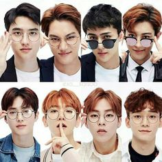 Exo on glasses Sehun, Exo Chen, Kpop Exo, Exo Ot12, Kaisoo, Chanbaek, Exo Group, Exo Official, Exo Lockscreen