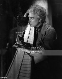 Harpo Marx (1888-1964) as Rusty in the film 'A Night in Casablanca', directed by Archie Mayo and produced by United Artists.