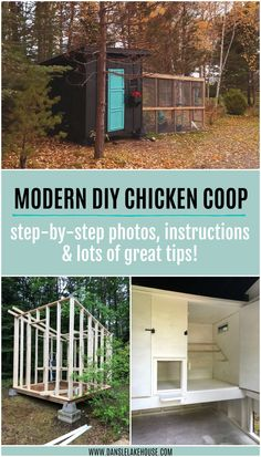 Getting backyard chickens? See how we made this simple modern DIY chicken coop and run. Our chicken coop and run built in a hill is done and I'm sharing the progress. Chicken Coop Plans Free, Easy Chicken Coop, Chicken Coop Designs, Backyard Chicken Coops, Building A Chicken Coop, Chicken Runs, Chickens Backyard, Chicken Feeders, Chicken Ideas