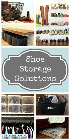 Best Shoe Storage Solutions!  @Amber Johnson Overflowing