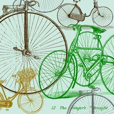 12 x 12 inch vintage bicycle printable I designed for scrapbooking and paper crafting