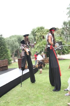 The stilts of the pirates  event, luxuria, kids, show, pirates des caraîbes,  stilts Saint Tropez, Cannes, Monaco, Cap D Antibes, Courchevel 1850, Kids Events, French Riviera, Bar Mitzvah, Pirates