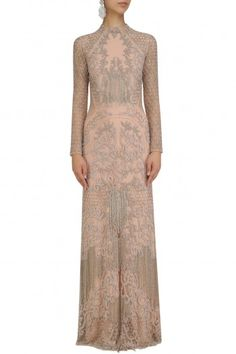 Platinoir presents Blush mosaic embroidered fringed gown available only at Pernia's Pop Up Shop. Gaun Dress, Pernia Pop Up Shop, Gowns Online, Indian Ethnic Wear, Designer Gowns, Party Gowns, Formal Gowns, Evening Gowns, Bridal Gowns