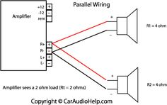 Subwoofer wiring diagrams for car audio bass speakersNational Auto Radios, Diy Boombox, Custom Car Audio, Car Audio Installation, Subwoofer Box Design, Speaker Plans, Car Audio Amplifier, Car Audio Systems, Speaker Design