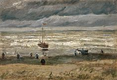 """Seascape at Scheveningen"" and ""Congregation Leaving the Reformed Church in Nuenen"" were found during an inquiry into Italian organized crime, the Van Gogh Museum said."
