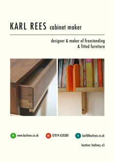 Commissioning a piece of furniture isn't as complicated as it sounds - just give me a call and I'd be happy to talk you through it. Fill in your details here or refer to my business card below to contact me. Bespoke Furniture, Cabinet Makers, Just Giving, Furniture Making, Bookcase, Give It To Me, Shelves, London, Design