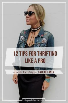 """Love finding gems, repurposing clothes, and/or love vintage? Then you've got to read Salvation Army's Stylist Tips. Because """"second hand never has to mean second best"""". Eco Stylist Faye De Lanty shows us how to thrift like a pro... find it now on the EcoHabitude Blog. Follow for sustainable living tips, Giveaways, and more!"""