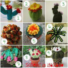 Doodles of thoughts: creativity doodles // Cactus amigurumi [Free pattern] Crochet Cactus Free Pattern, Crochet Flower Patterns, Crochet Stitches Patterns, Crochet Patterns Amigurumi, Crochet Flowers, Crochet Gifts, Crochet Toys, Cactus Craft, Cactus Plante