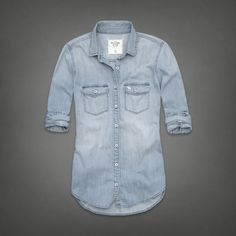 Vintage Denim Shirt | Abercrombie.com | Check out our Pin To Win Challenge at http://on.fb.me/UfLuQd