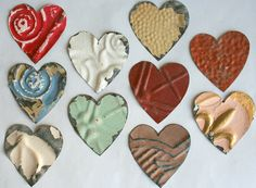 Genuine Antique Ceiling Tin Heart Shapes For by VINTAGEHOMEACCENTS, $19.99