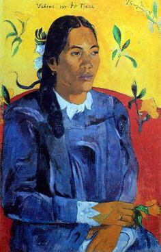 Paul Gauguin - Post Impressionism - Papeete - La femme à la fleur - The woman…