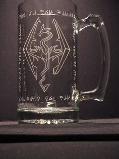 Skyrim stein for my hubby!