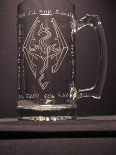 Skyrim The Elder Scrolls inspired Beer Mug by WastedTalentDesigns, $22.00