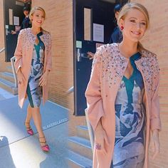 """@malonesouliers on @BlakeLively in USA Today  """"This week, we've worshipped at the very chic altar of Blake Lively, who has been slaying each and every day while she makes the promo rounds for her new flick #AgeofAdaline.  She's so dedicated to looking flawless that she even changed nearly a dozen times on Tuesday. No, that does not sound ridiculous to us. It sounds like a dream."""