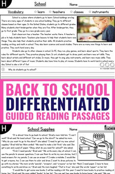 These guided reading passages are themed and differentiated for the entire school year! The levels and topics make my schedule so much more simple and easier to manage. I can use them for kindergarten and first grade reading levels the whole year. Planning is done! Reading Comprehension Passages, Reading Fluency, Reading Intervention, Guided Reading, Teaching Reading, Reading Strategies, Reading Activities, Teaching Ideas, Learning