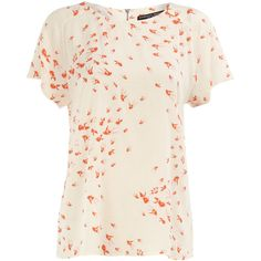Ivory fish print tee ($45) ❤ liked on Polyvore featuring tops, t-shirts, dorothy perkins, women, pink t shirt, ivory tee, pink top and fish t shirt