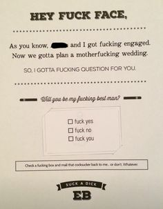 How to ask your groomsmen More