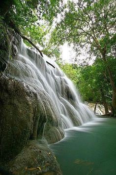 Kaangrian landscape waterfall near Burgos, Ilocos Norte, Philippines