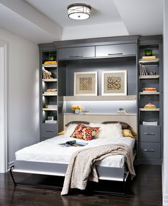 Wall bed unit in a modern condo.