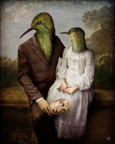 The Hummingbirds  Christian Schloe é um artista austríaco que vem se destacando com um trabalho que mescla ilustração digital e fotografia.