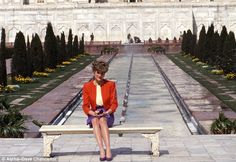 Prince Charles turned down the opportunity to visit the Taj Mahal with Princess Diana, leaving her to sit on the bench in front of the mausoleum by herself