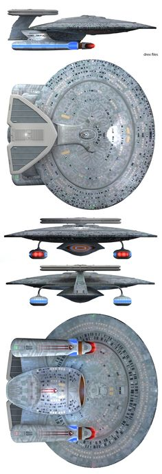 Full color rendering of Nebula-class starship, USS Bonchune, NCC-70915