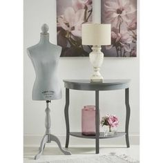 Shop for Kate and Laurel Lillian Wood Half Moon Console Table with Shelf. Get free shipping at Overstock.com - Your Online Furniture Outlet Store! Get 5% in rewards with Club O! - 18916842