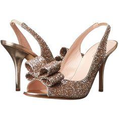 Kate Spade New York Charm Heel High Heels, Beige (790 RON) ❤ liked on Polyvore