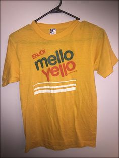 Vintage 80's Enjoy Mello Yello Logo Shirt - Size Small by JourneymanVintage on Etsy