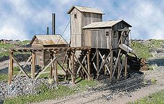 "Martinsburg Coal Mine #1 - LASERkit(R) -- Kit - 10 x 9 x 5"" 25.4 x 22.9 x 12.7cm (152-164) -- Walthers Model Railroading"