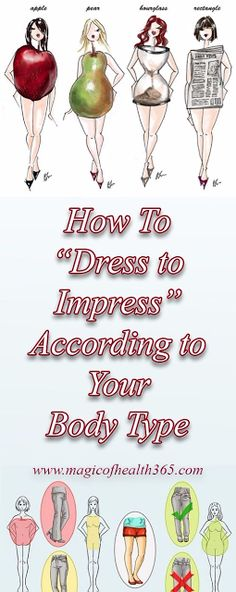 """Well guess which one I am?  HOW TO """"DRESS TO IMPRESS"""" ACCORDING TO YOUR BODY TYPE"""