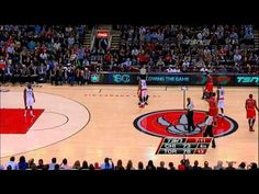 Nate Robinson Funny JUMP BALL (4.12.2013) - YouTube