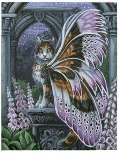 Foxglove Calico Fairy Cat
