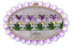 Orquídeas: Guarda calada con cintas de seda de 3 y 5 mm