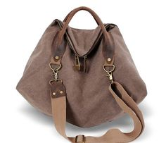 Leather canvas bags travel leisure Mobile Messenger by vivianli3