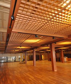 1000 images about store on pinterest pocket park ceilings and iron wall - Wood slat ceiling system ...
