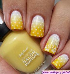 144 fotos de diseño amarillo de manicura | Belleza y Salud