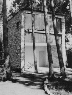 Piero Bottoni: 'Casetta nella pineta', Marina di Massa, 1945