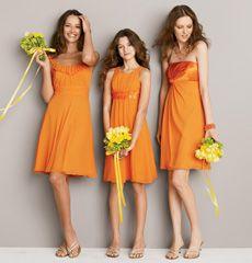 Tangerine Bridesmaid Dresses From David S Bridal