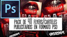 Pack gratis: 40 Carteles y Flyers editables en formato PSD