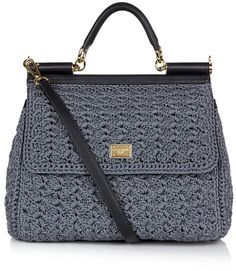 dolce crochet bag | Dolce & Gabbana Miss Sicily Classic Crochet Bag in Gray (gold) - Lyst