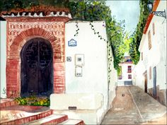 https://flic.kr/p/HCmKDQ | Carmen de San Luis. Granada | Carmen de San Luis, Granada, watercolour