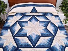 offset log cabin quilt pattern | Diamond Star Log Cabin Quilt -- outstanding cleverly made Amish Quilts ...